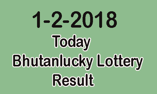1-2-2018 Today Bhutanlucky Lottery Result