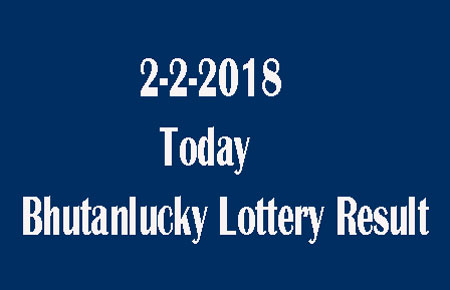 2-2-2018 Today Bhutanlucky Lottery Result