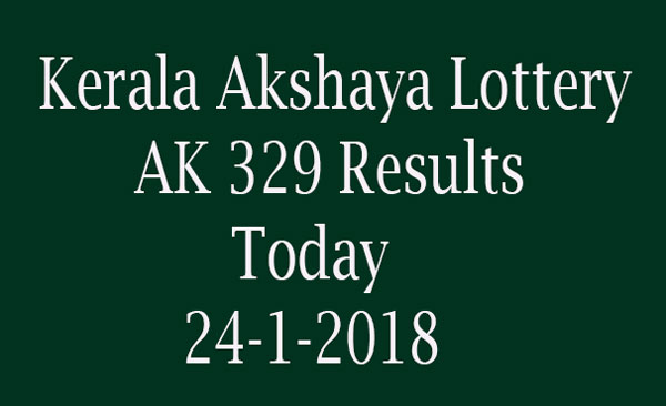 Akshaya Lottery AK 329 Results