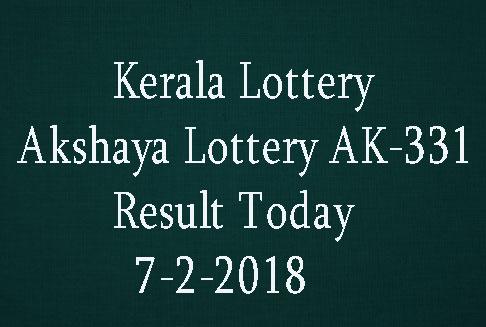 Akshaya Lottery AK-331 Result