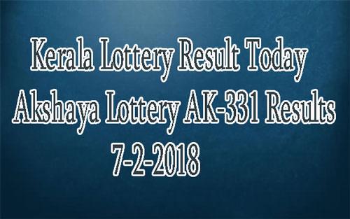 Akshaya Lottery AK-331 Results