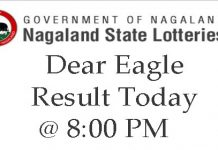 Dear Eagle Evening 8PM Result