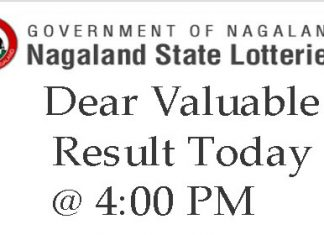 Dear Valuable Evening 4PM Result