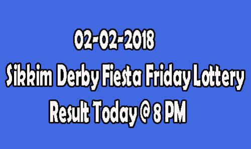 Derby Fiesta Friday Lottery Result