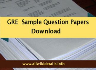 GRE Model Papers