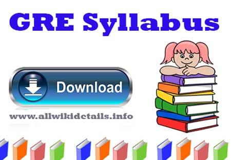 GRE Syllabus Pdf