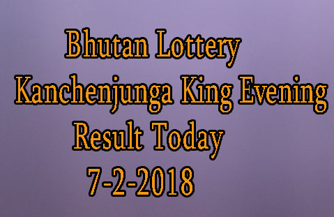 Kanchenjunga King Evening Result Today