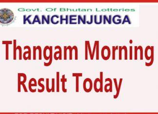 Kanchenjunga Thangam Morning Result