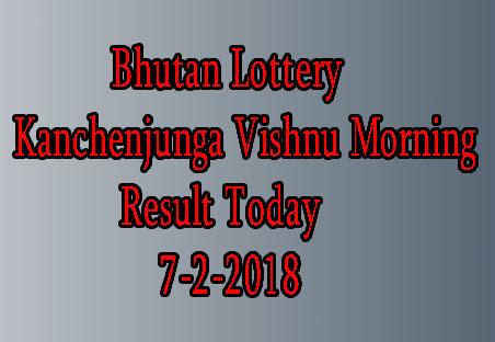 Kanchenjunga Vishnu Morning Today Result
