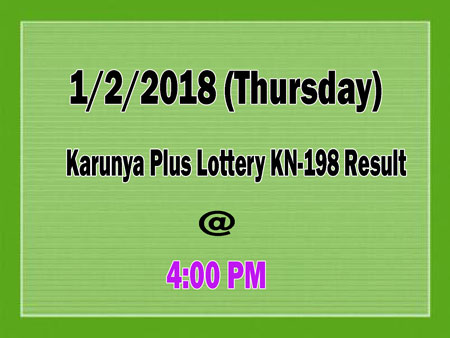 Karunya Plus Lottery KN198 Result