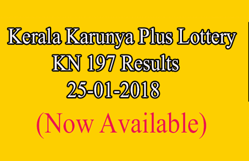 Karunya Plus Lottery Results