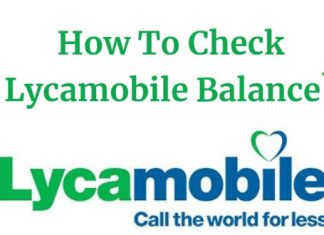 Lycamobile Balance Check