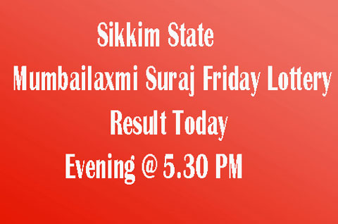Mumbailaxmi Suraj Friday Lottery Result