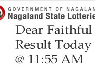 Nagaland Lottery Dear Faithful Mor Results