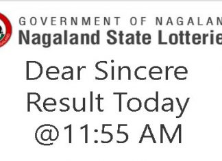 Nagaland State Lottery Dear Sincere Today Result