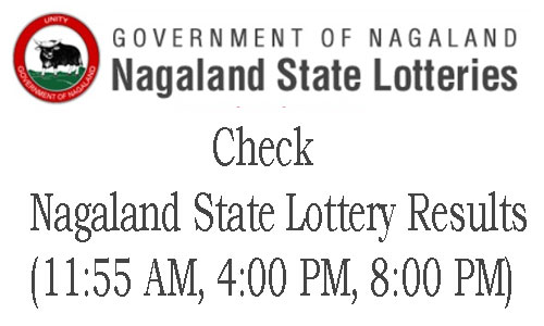 Nagaland Lottery Results Today – (11:55 AM, 4:00 PM, 8:00 PM)