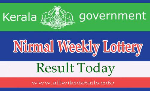 Nirmal Weekly Lottery Result