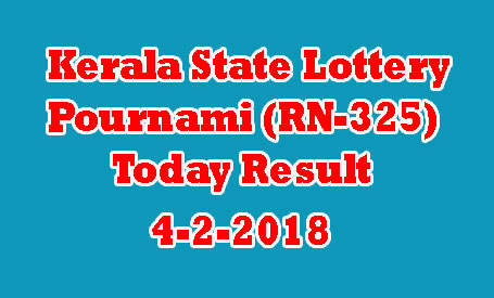 Pournami (RN-325) Lottery Today Result