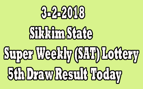Sikkim Super Weekly Saturday Lottery