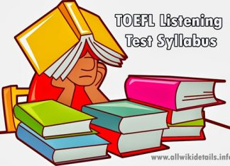 TOEFL Listening Test Syllabus