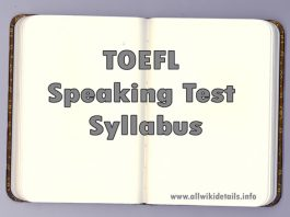TOEFL Speaking Test Syllabus
