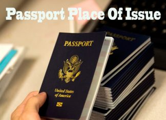 US Passport Place Of Issue