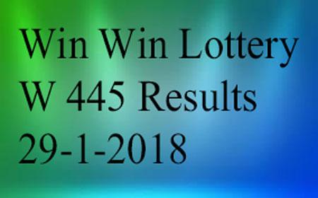 Win Win Lottery W 445 Results