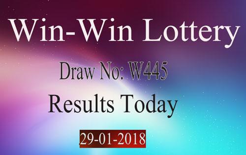 Win Win Lottery W445 Results